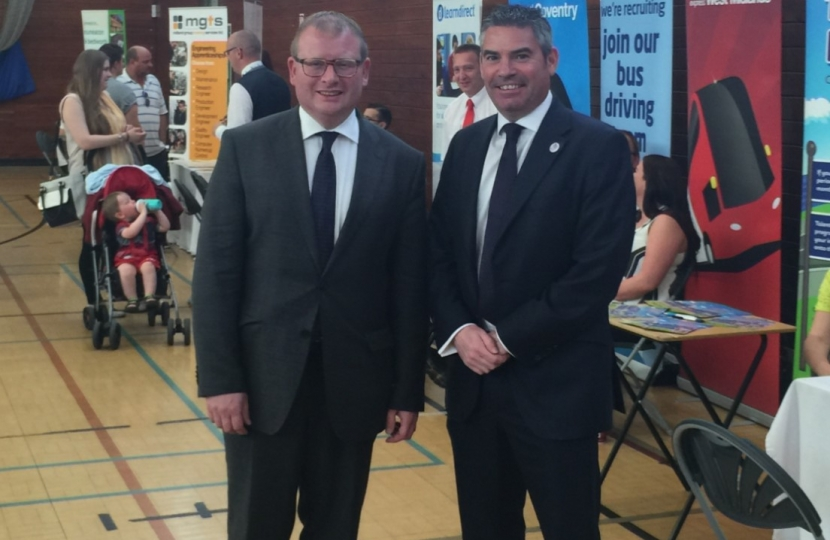 Craig and Marcus at their Jobs Fair