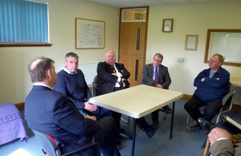 Craig brings then Minister Eric Pickles to discuss Daw Mill