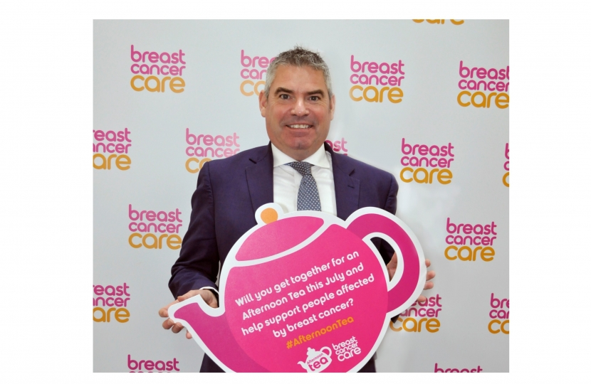 Craig at the Breast Cancer Care event