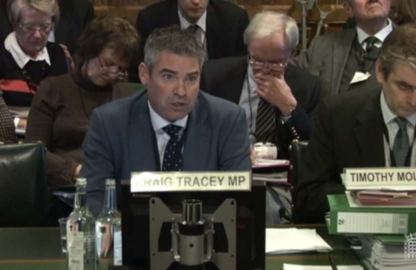 Craig giving evidence at a HS2 Committee Hearing